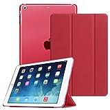 Fintie Hülle für iPad Air 2 (2014 Modell) / iPad Air (2013 Modell) - Superdünne Superleicht Schutzhülle mit Transparenter Rückseite Abdeckung mit Auto Schlaf/Wach Funktion, Rot