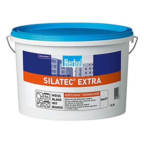 Herbol Silatec Extra Slikonharz Hybrid DU 1 Fassadenfarbe Weiß 12,5 L