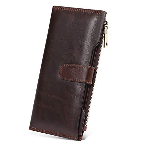 Portafoglio da uomo Portafoglio Portafoglio da uomo Trend Wallet (Colore : Brown, dimensioni : 19.5 * 9.5 * 1.5cm)