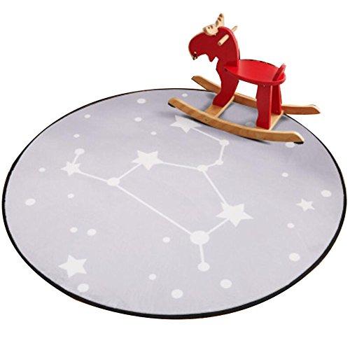 Ronda 80 CM alfombras para niños Juego Alfombra Silla de silla Cojín de silla giratoria -A3