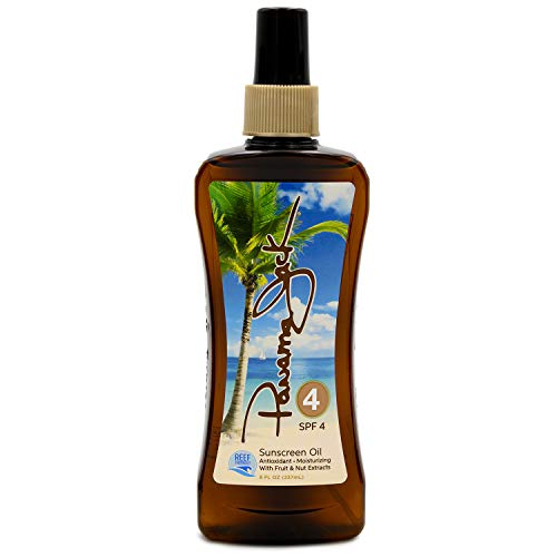 Panama Jack Sunscreen Tanning Oil - SPF 4, Reef Friendly, PABA, Paraben, Gluten & Cruelty Free,...