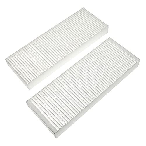 vhbw Set de filtros Compatible con Zehnder Paul Novus 300, 450 Unidad de ventilación - Filtro de Aire G4 / F7 (2 uds.), 48 x 18 x 10 cm, Blanco