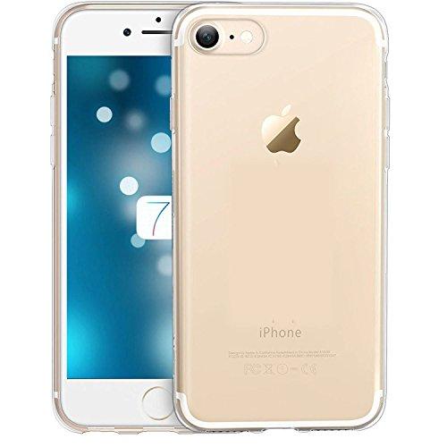 Deet® - Carcasa de gel para iPhone 7 a prueba de golpes, transparente