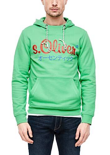 s.Oliver Herren 13.002.41.4959 Sweatshirt, Green, XXX-Large (Herstellergröße: 3XL)