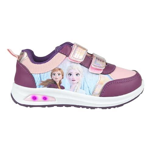 CERDÁ LIFE'S LITTLE MOMENTS Jungen Licht   Disney Frozen LED Schuhe Mädchen Offizieller Lizenz, Violett, 30 EU