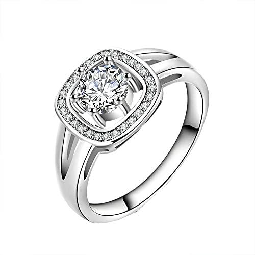 Anillo de accesorios de joyería de piedras preciosas de circonita AAA de plata 925 para mujer Anillo de compromiso de boda8sameasphoto