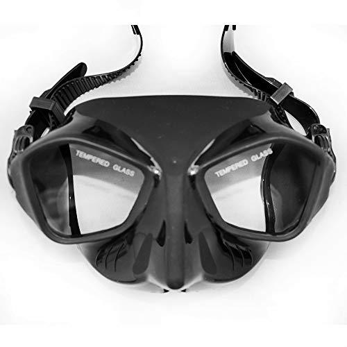 ALTRUISM Extrema Volumen Bajo para Pesca Submarina Máscara De Buceo Falda De Silicona Negra Correa Lente Moderada Freediving Mask Adultos Pesca Submarina