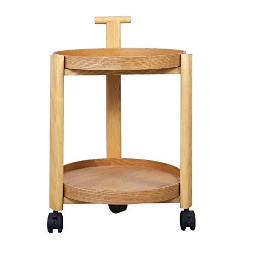 Jcnfa-Tables sofabed op wieltjes, van massief hout, bijzettafel, woonkamer, slaapkamer, 2 nachtstand Utility Trolley 2 kleuren