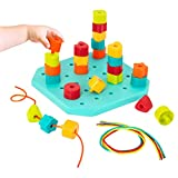 Battat - Toddler Peg Board - Stacking Peg Board Set - Fine Motor Skills Toy - Therapy Toy - 31 pcs - Count & Match Pegboard - 2 Years +