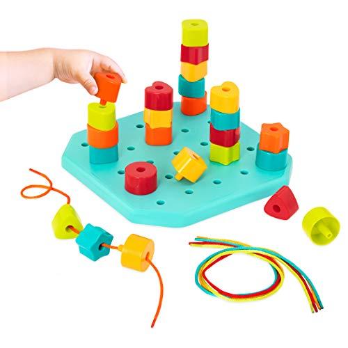 Battat - Toddler Peg Board - Stacking Peg Board Set - Fine Motor Skills Toy - Therapy Toy - 31 pcs -...
