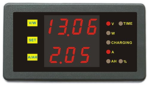 Review DC 0-120V 0-100A Volt Amp Ah Power Capacity Percent Battery Monitor Watt Meter 50A 50A 200A 2...
