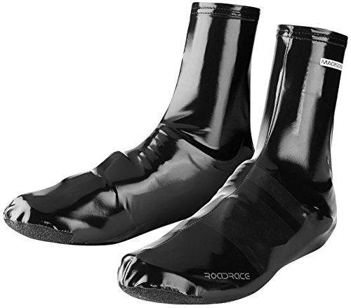 Madison Road Race PU Aero Overshoes - Black, Large/Bicycle Cycling Cycle Bike Over Shoe Boot Cover...