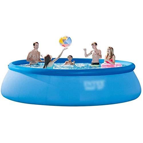 Qazxsw Piscina Inflable/para Niños De Gran Tamaño Adulto Piscina Al Aire Libre/Familia Niños Piscina Cubierta Interior/Parque Acuático Más Alto Y Grueso,Azul,457 * 84cm