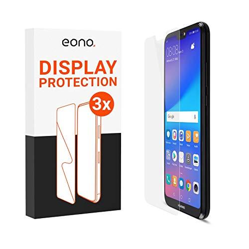 Eono 2.5D Panzerglas [3 Stück] kompatibel für Huawei P20 Lite (2019) - 9H Schutzglas gegen Displaybruch, Kratzer - Hüllenfreundlich