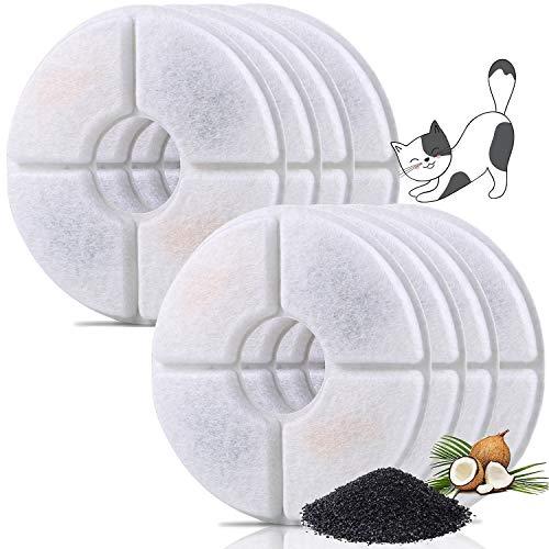 JTENG Filtro de Fuente para Gatos y Perros, Resina y Carbón Activado para Dispensador Automático de Agua (Paquete de 8)