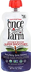 Once Upon A Farm, Berry Berry Quite Contrary Storybook Organic Smoothies, 4 Ounce