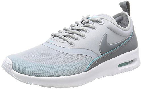 Nike W AIR MAX THEA Ultra COOL Grey/VLTG Green-White-BLK - 8.5