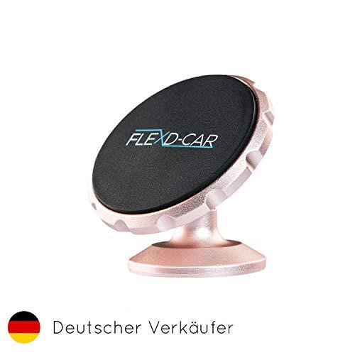 FLEXD-X Auto Handyhalterung Magnet Stark Handyhalter fürs Auto magnetisch Smartphone Halterung im Set KFZ360° (Rosé)