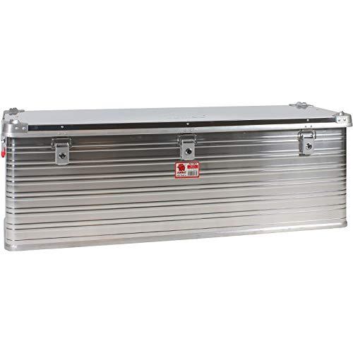 JUMBO Aluminium Transport-Box Alu 160 Liter ALU160 L 1182 x B 385 x H 412 mm Kiste Truhe Lager-Box Alubox (160 Liter)