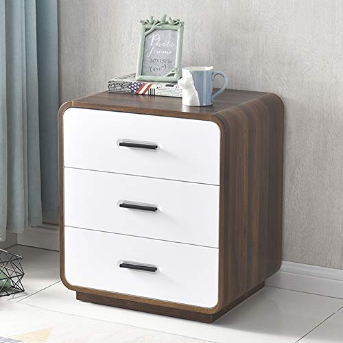 QLIGHA Modern Bedside Table with Drawers Simple Locker Light Luxury Bedroom Nightstand Table White Storage Free Installation Bedroom Side Table End Table