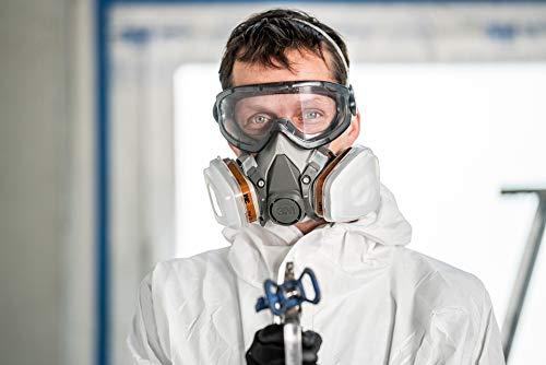 3M Mehrweg-Halbmaske 6002C – Halbmaske mit Wechselfiltern gegen organische Gase, Dämpfe und Partikel – Für Farbspritz- und Maschinenschleifarbeiten - 8