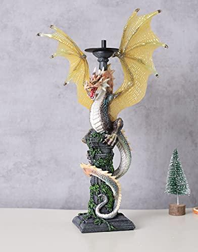 Kerzenleuchter Drache Smug Fantasy Dekoration Leuchter WU74541AA Palazzo Exclusiv