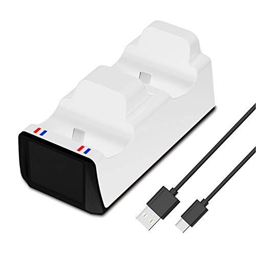 Für PS5 Controller Ladegerät Charger Ladestation Ständer Mit USB Kabel Twin Dual USB 2 Gamepads Schnelles Laden Eingebauter Hardware Überspannungsschutz Zubehör Für Playstation 5