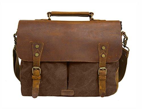 Ecosusi-Borsa tracolla uomo in pelle /Borsa pelle vintage/Vintage & Retro Borse a spalla