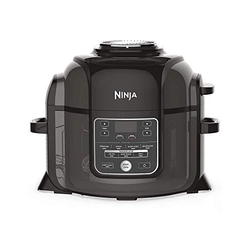 Ninja Multikocher OP300EU, Schnellkochtopf, Heißluftfritteuse, Dampfgarer und Langsamgarer in einem, Tender-Crisp-Technologie (innen saftig, außen knusprig)