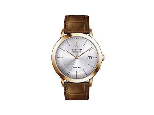 Eterna Eternity Gent Automatik Uhr, SW 200-1, PVD, Silber, 40mm, 2700.56.11.1391