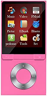 Iycorish MP3/MP4 Lossless Sound Music 8GB Player Recorder TF Card Voice Recorder Pink