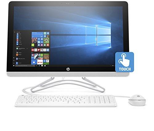 """HP 24-e002nl All in One PC, AMD Dual-Core A9-9400, 8 GB DDR4, SATA da 1 TB, Schermo tattile FHD antiriflesso con retroilluminazione a WLED 23,8"""" IPS (1920 x 1080), Bianco"""