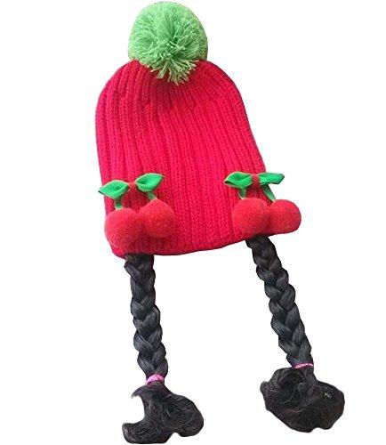 [Red Cherry] Cute Girl bébé Bonnet enfants Cap avec Braids