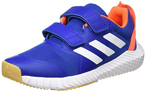 adidas Unisex-Child Fortagym Cf K Indoor Court Shoe, Collegiate Royal/Cloud White/Solar Orange, 33 EU