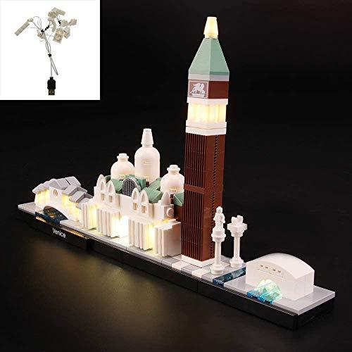 QJXF USB-Licht-Satz Kompatibel Mit Lego Architecture Venedig Skyline 21026, LED-Licht-Kit Für (Architektur Venedig Skyline) Building Blocks Model (Nicht Im Lieferumfang Enthalten Modell)