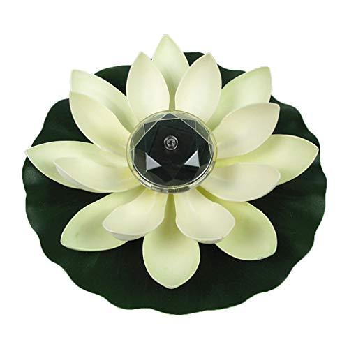 S-TROUBLE Lampe de Fleur de Lotus à LED à énergie Solaire, veilleuse Flottante extérieure résistante à l'eau pour la décoration de fête de Piscine de Jardin
