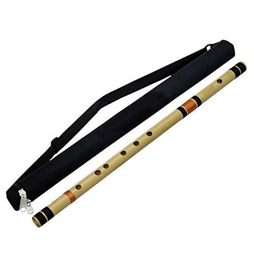 Professioneller Basis Bambus Flöte (A Tune) quer Bansuri Woodwind indischen Musical Instrument 58,5 CM
