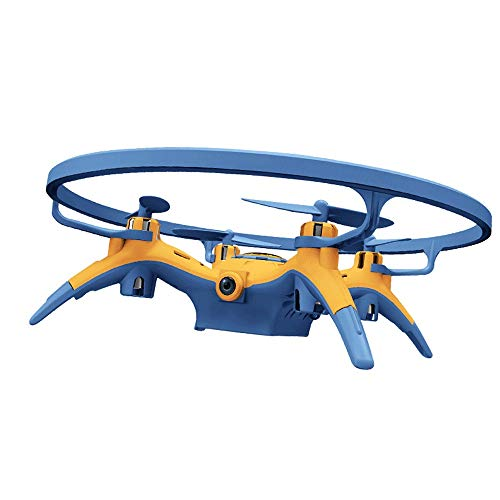 Slreeo Small Drone, High-Definition Aerial Photography Quadcopter, Mobile Phone Remote Control Helicopter, Toys for Children and Boys, Three Gears, One-Button Take-Off/Lift (Color : Blue)