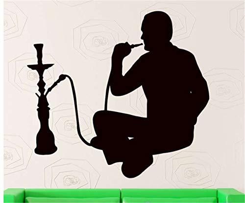 Wandaufkleber Schlafzimmer Shisha Shop Aufkleber Mann Aufkleber Shisha Rauchen Rauch Arabisch Aufkleber Kunst Wandbild Für Spielzimmer