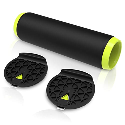 MORFBOARD Balance Xtension, Roller Board Extension for Exercise, Athletic Training and Board Sports, Includes 2 End Block Extensions and 1 Roller, Deck Sold Separately, CHARGE (chartreuse-black)