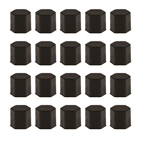 Paquet De 20 Voiture Pneu De La Roue à Vis Protéger Boulon Capuchon D'écrou Lug 17mm Noir