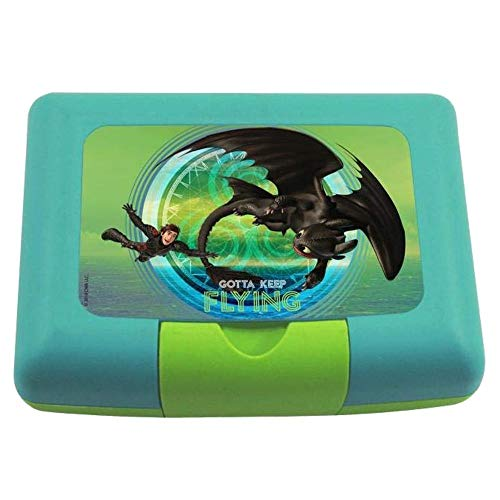 Dragons Brotdose Box Frühstück mit Trenner | Kinder Vesper Dose