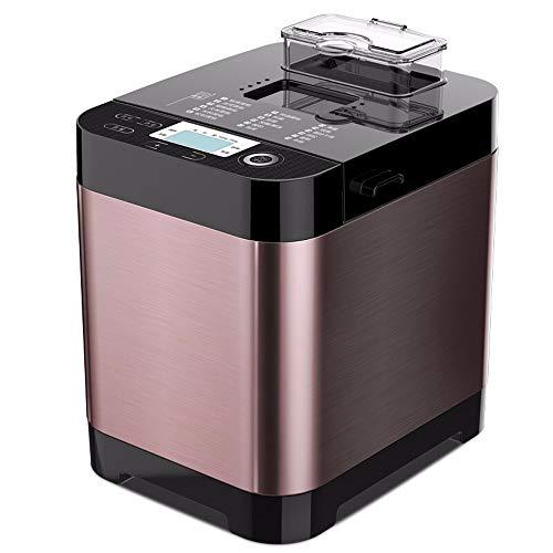 Automático Máquina de hacer pan, 18-Modo compacto panificadora, programable, 3 tamaños Pan, semillas de frutas dispensador de acero inoxidable máquina de pan para hornear cocina que cocina, 450W, 220V