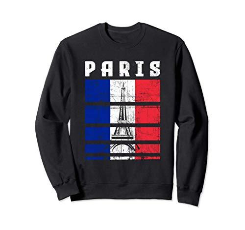 Paris Tour Eiffel France Drapeau français Souvenir Cadeau Sweatshirt