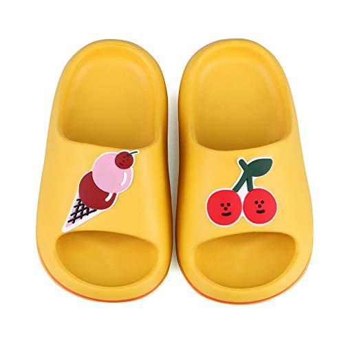 Infradito e Ciabatte da Spiaggia per Unisex Bambini Ragazze Pantofole Ragazzi Frutta Ciabatte da Doccia(25.5 EU/CN 18,Giallo)
