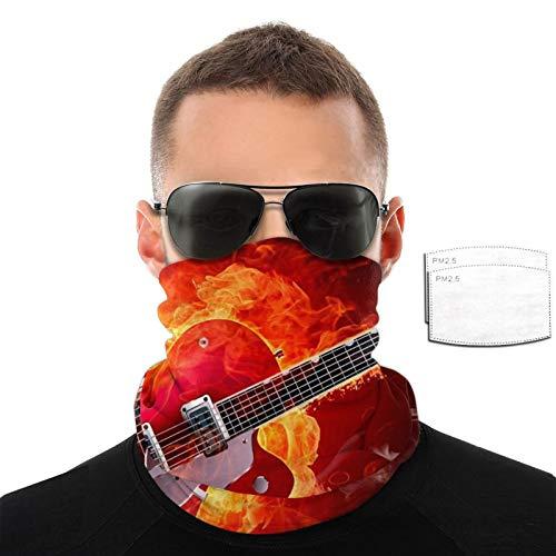 Guitarra eléctrica papel pintado hombres mujeres deportes al aire libre a prueba de viento transpirable variedad toalla facial