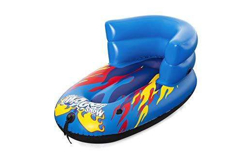 Bestway 39057 Nein H2OGO Snow Flurryz Child Sled 84x46cm, Aufblasbarer Kinderschlitten mit Rückenlehne