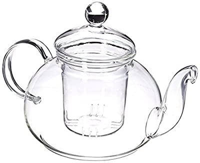 Happy Sales 28 oz Clear Heat Resistant Borosilicate Glass Teapot & Infuser for loose tea