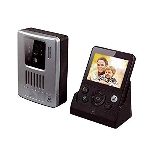 video senza fili citofono - Porter video senza fili - monitor video wireless citofono con 3.5'schermo - senza fili 200M videocitofono WDP-200 - PVS0005 SCS Sentinel, Grigio Nero