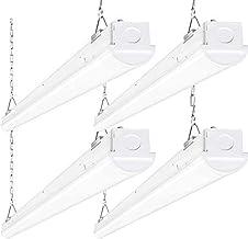 8FT LED Shop Light, 110W 14300LM Linkable LED Garage Light, [6-lamp F32T8 Fluorescent Equiv.] 5000K Daylight, 0-10V Dimmab...
